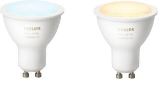 Philips Led-Spottilamppu Hue White Ambiance Gu10 2Kpl