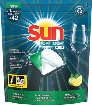 Sun Konetiskikapseli All-In-1 Optimum Lemon & Bergamot 42 Kpl