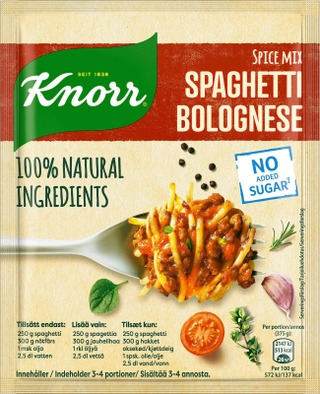 Knorr Ateria-Aines Spaghetti Bolognese 38 G