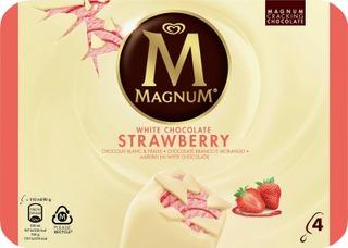 Magnum Monipakkaus Strawberry White 440 Ml