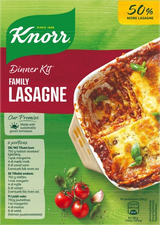 Knorr Ateria-Aines Family Lasagne 363 G