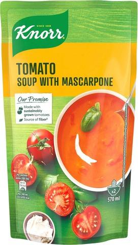 Knorr Tomaattikeitto Mascarpone-Juustolla Ja Aurinkokuivatuilla Tomaateilla 570 Ml