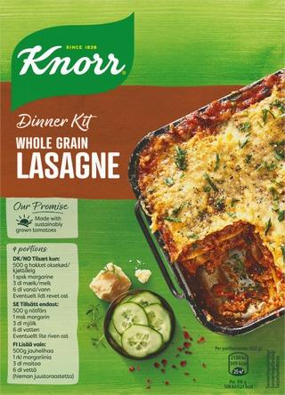 Knorr Ateria-Aines Täysjyvä Lasagne 265 G