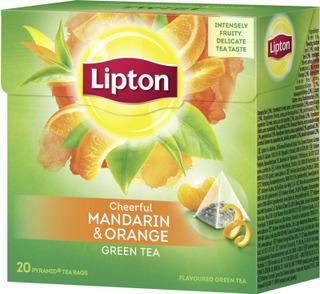 Lipton 20Ps Green Mandarin Orange Pyramidi Vihreä Tee