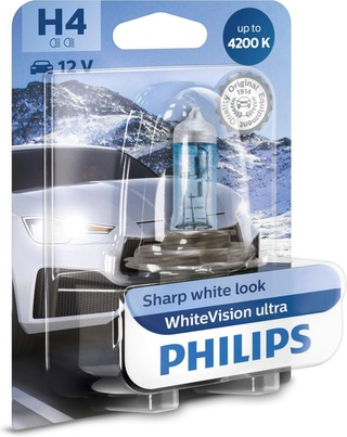 H4 Whitevision Ultra Ajovalopolttimo