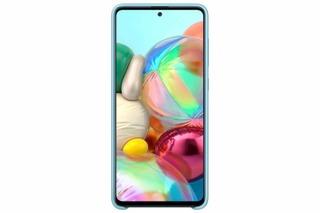 Samsung galaxy suoja  A71 Silicone Cover sininen