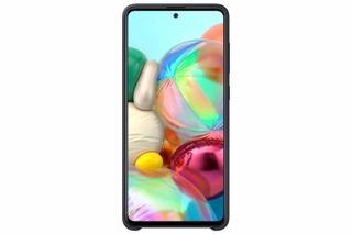 Samsung Galaxy Suoja  A71 Silicone Cover Musta