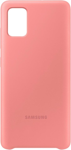Suoja Galaxy A51 Silicone Cover Pinkki