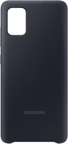 Suoja Galaxy A51 Silicone Cover Musta