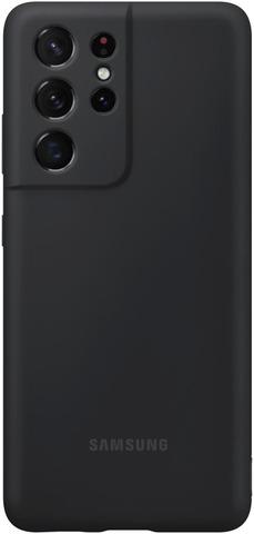 Samsung Suojakuori Silicone S21 Ultra Musta
