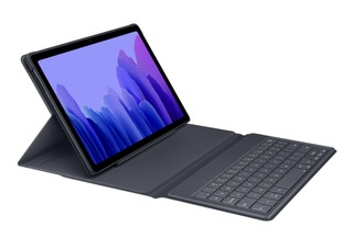 Samsung Book Cover Keyboard Tab A7, Musta