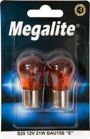 Megalite Autolamppu 12496 12V 21W Oranssi 2Kpl