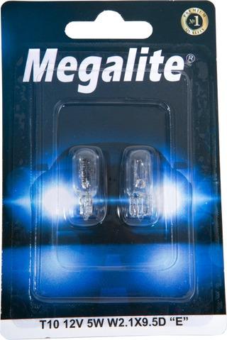 Megalite Polttimopari W5w 12V 5W