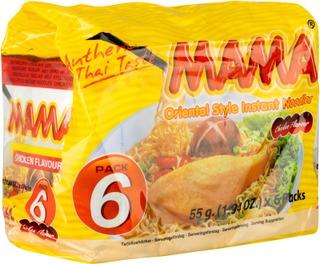 Mama 6-Pack Kananmakuinen Nuudeli 6X55g