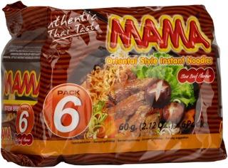 Mama 6-Pack Lihanmakuinen Nuudeli 6X60g