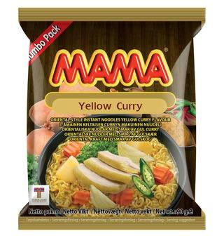 Mama 90G Nuudeli Keltainen Curry