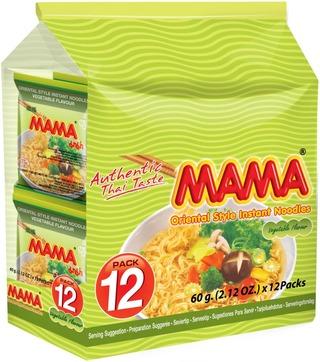 Mama 12-Pack Itämainen Vihanneksenmakuinen Nuudeli 12X60g