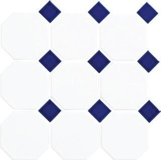 Art Octagon 9.77X9.77 Verk.valk/Sininen Lasitettu Laatta