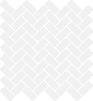 Herringbone Gloss White 2.2X4.7 Lasitettu Mosaiikki Verkolla Valkoinen