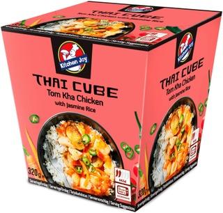 350G Kitchen Joy Thai-Cube Tom Kha -Kanaa Ja Jasmiiniriisiä, Pakasteateria