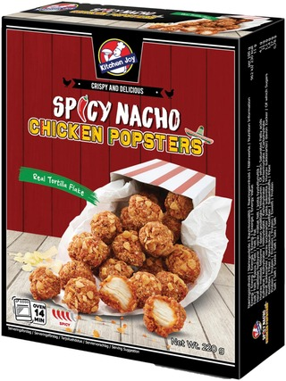220G Kitchen Joy Spicy Nacho Chicken Popster Pakaste