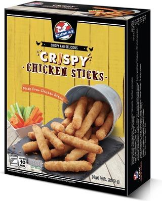 260g Kitchen Joy Crispy Chicken Sticks, paneroidut kypsät kanapuikot, pakasteateria