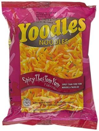 Yoodles Noodles 85G Spicy Thai Tom Yum Nuudelit