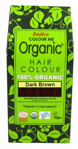 Radico 100g hiusväri tummanruskea colour me organic