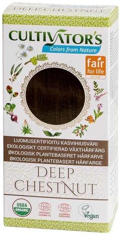 Cultivator's Luomusertifioitu Kasvihiusväri Deep Chestnut 100G