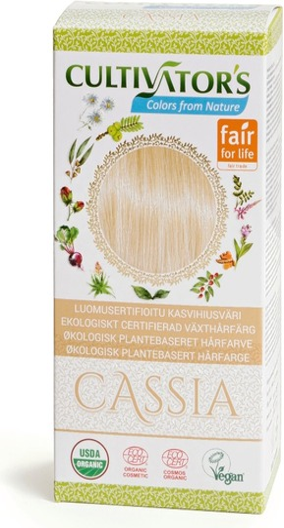 Cultivator's Luomusertifioitu Kasvihiusväri Cassia 100G