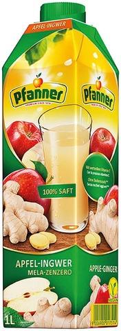 Pfanner Omena-Inkivääri-Sitruuna Täysmehu 1 L