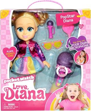 Love Diana Popstar Sing Along 33 Cm Nukke