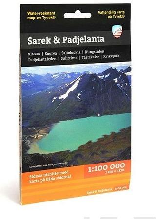 Sarek Padjelanta -Retkeilykartta