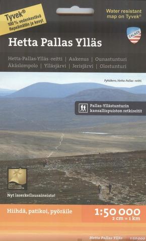 Hetta Pallas Ylläs -Retkeilykartta