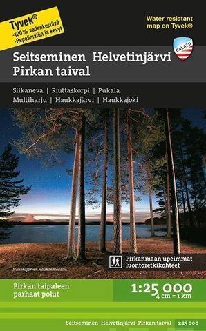 Seitseminen Helvetinjärvi Pirkan Taival -Retkeilykartta