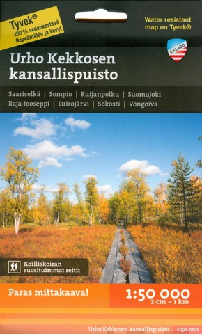 Urho Kekkosen Kansallispuisto -Retkeilykartta