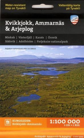 Kvikkjokk Ammarnäs Arjeplog -Retkeilykartta