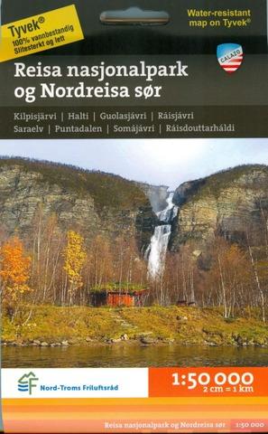 Rejsa Nasjonalpark Og Nordreisa Sör -Retkeilykartta