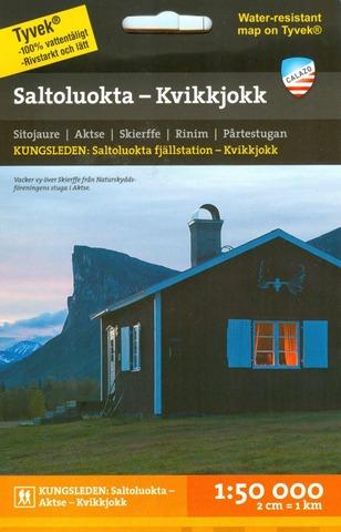 Saltoluokta Kvikkjokk  -Retkeilykartta