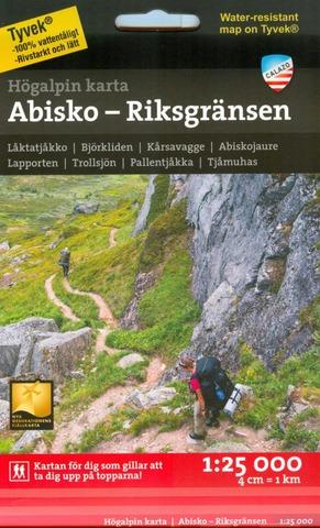 Abisko-Riksgränsen -Vuoristokartta