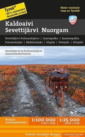 Kaldoaivi Sevettijärvi Nuorgam -Retkeilykartta