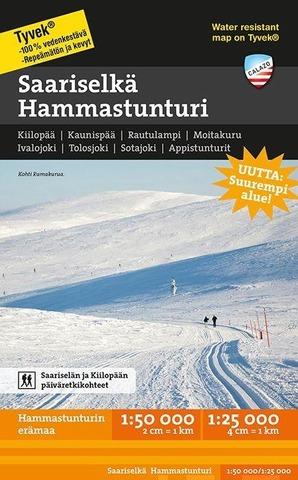 Saariselkä Hammastunturi -Retkeilykartta