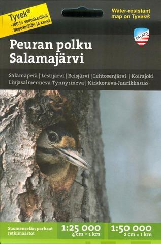 Peuran Polku Salamajärvi  -Retkeilykartta