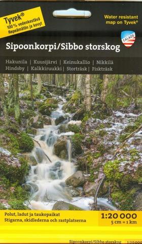 Sipoonkorpi Sibbo Storskog -Retkeilykartta