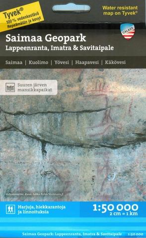Saimaa Geopark Lappeenranta Imatra Savitaipale  -Retkeilykartta