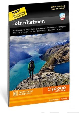 Jotunheimen-Retkeilykartta