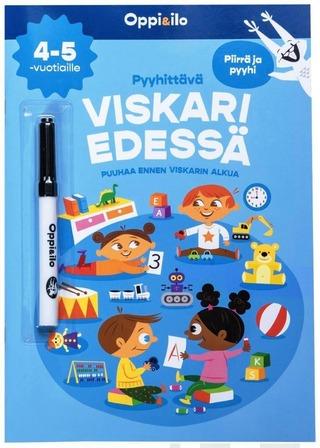 Oppi&ilo Pyyhittävä Viskari edessä -puuhakirja 4-5 v