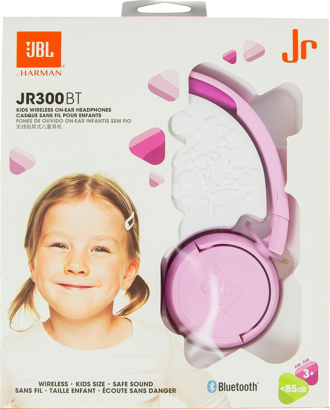 JBL Jr. 300BT langattomat on ear kuulokkeet (pinkki
